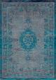 intage vloerkleed Fading World - Medaillon | Grey Turquoise 8255