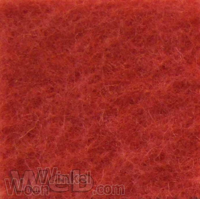 AaBe Orion tomaatrood - zuiver scheerwollen deken - 420gr/m2 Merinowol