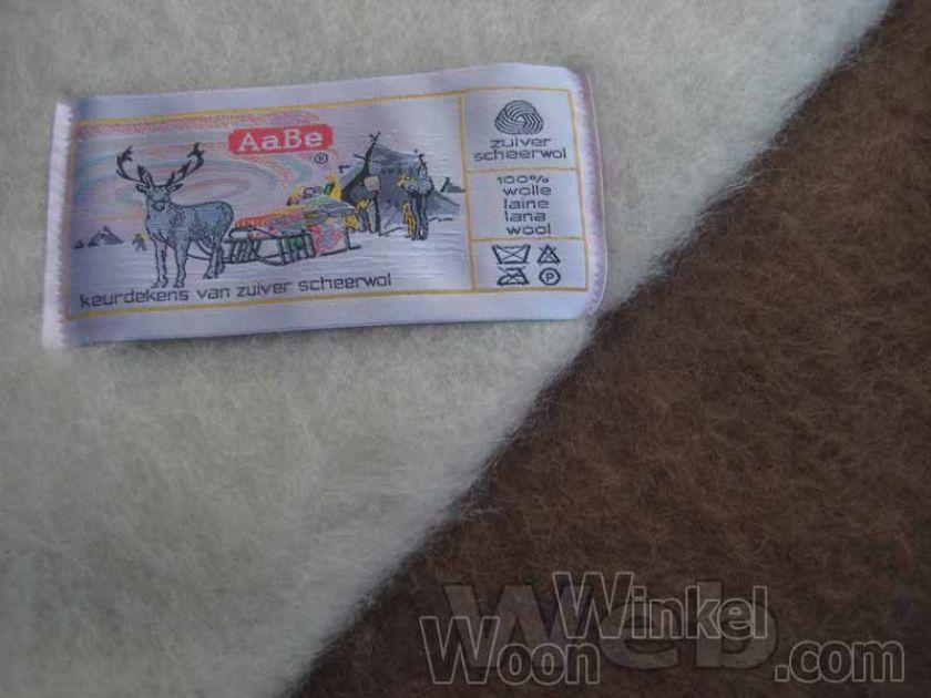 AaBe Promesse camel - zuiver scheerwollen deken - 600gr/m2