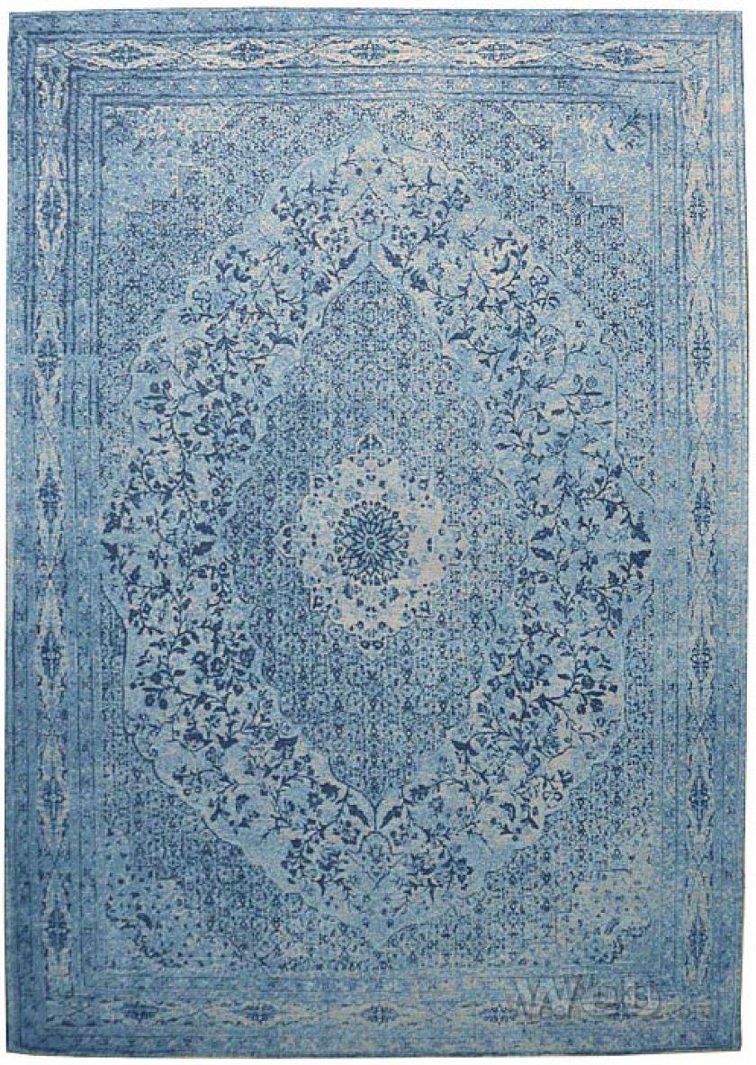 Tabriz - licht blauw | vintage chenille karpet